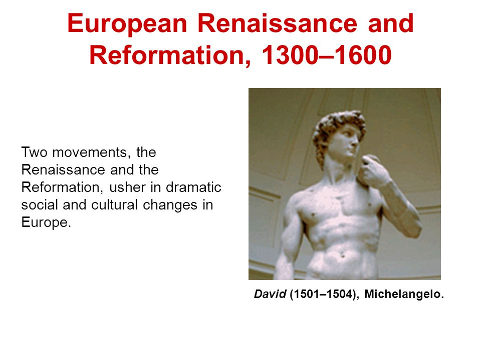 the renaissance ushers in new changes in technology Changes brought on by the renaissance period essay 534 words 3 pages 16th century europe was a time of religious and social change it was a time of new art.