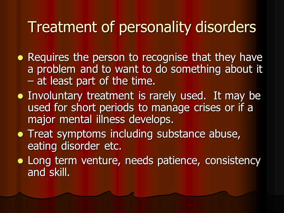 personailty disorders in the workplace Dissociative identity disorder (did) was formerly called multiple personality disorder it is a mmental illnesses that involves disruptions or breakdowns of memory, awareness, identity and/or perception.