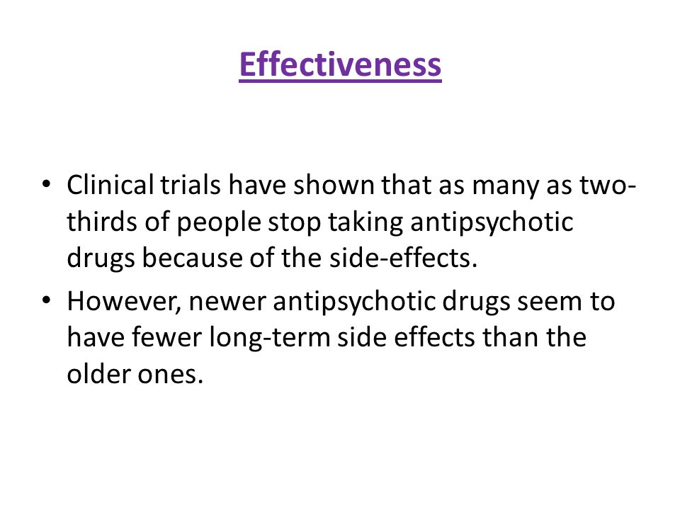 antipsychotic medication essay We have many drugs to treat psychiatric diseases, but instead of just adjusting  the  the human body occasionally converts it to clozapine, an antipsychotic drug.