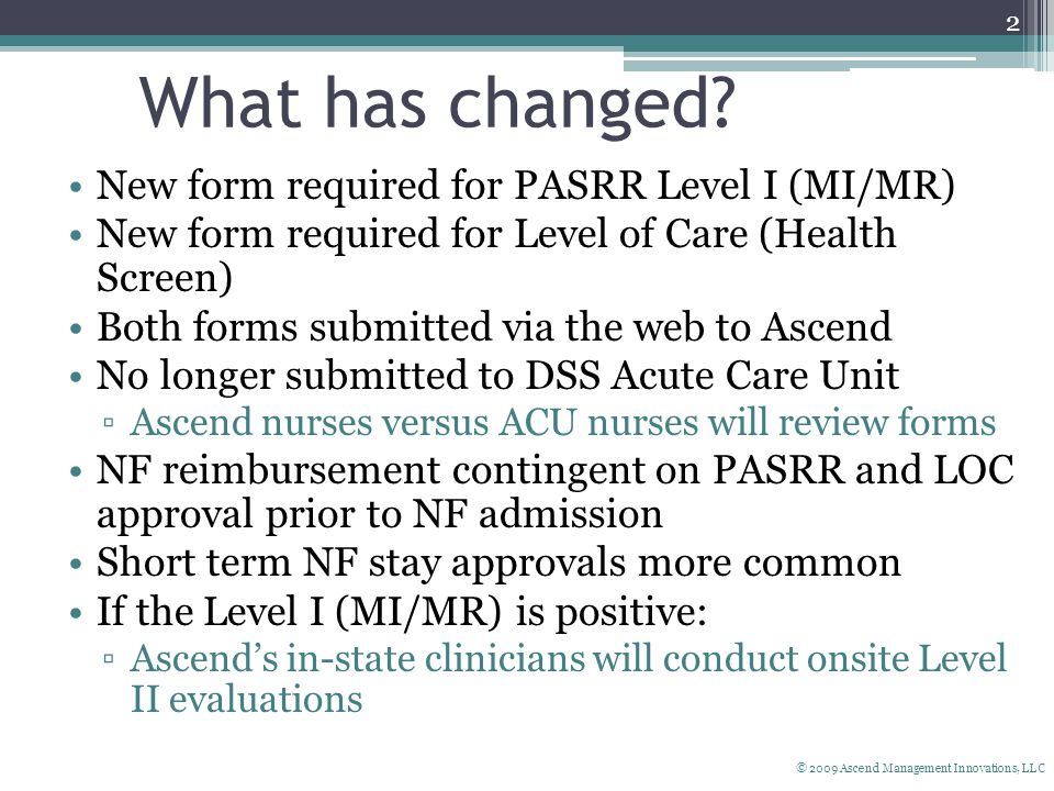 Connecticut PASRR and NF Screening - ppt download
