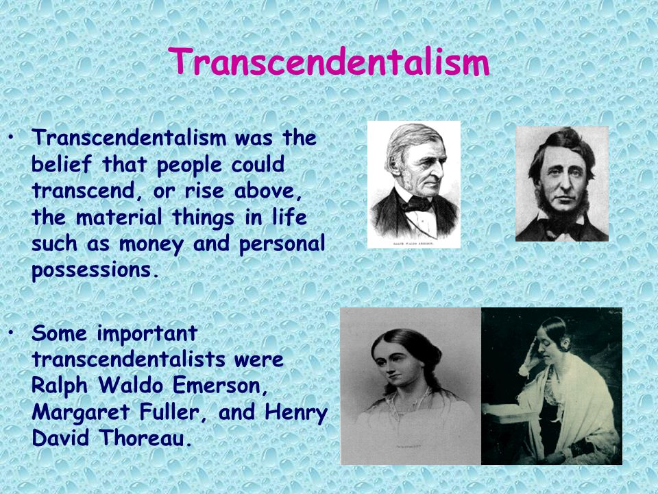 an overview of the transcendentalism as a historical movement Buy products related to transcendentalism philosophy products and see what the historical context,personalities overview of the movement and.