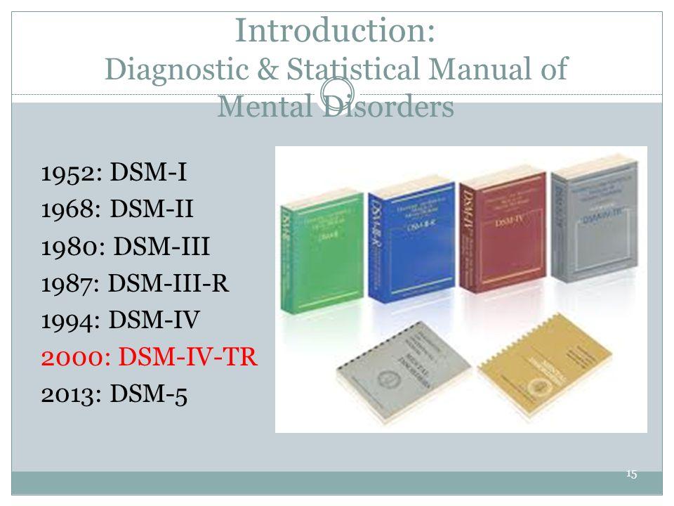 statistical manual of mental disorders