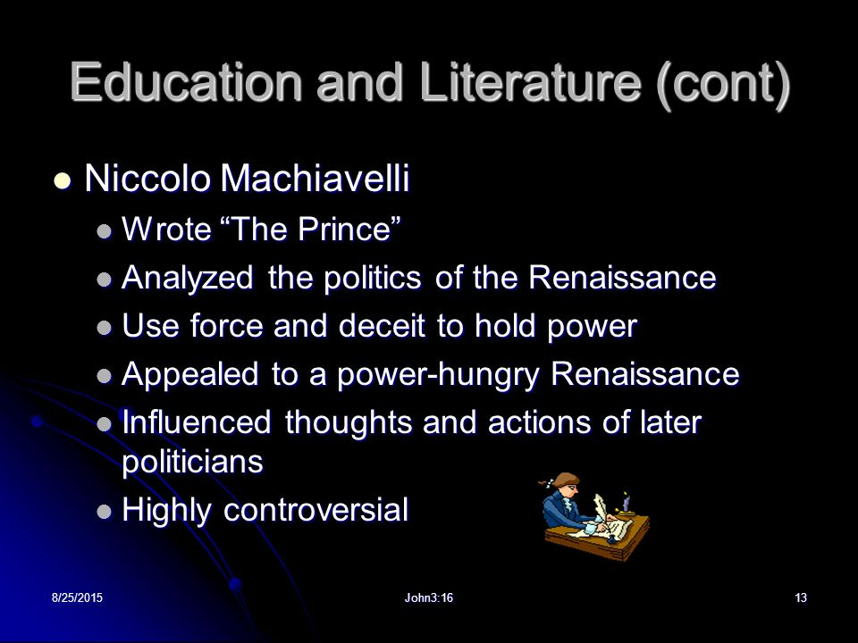 literary analysis of the book the qualities of the prince by niccolo machiavelli Summary niccolo machiavelli the qualities of the prince  essaysmachiavelli's philosophy is basically to become a good leader you must  do anything even.