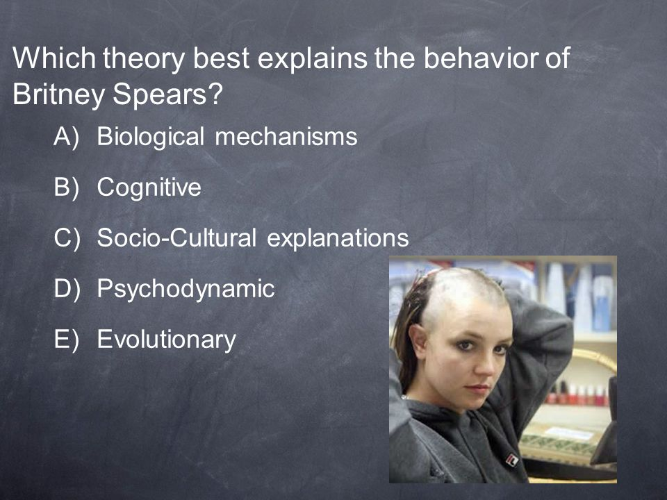 Which theory best explains the behavior of Britney Spears