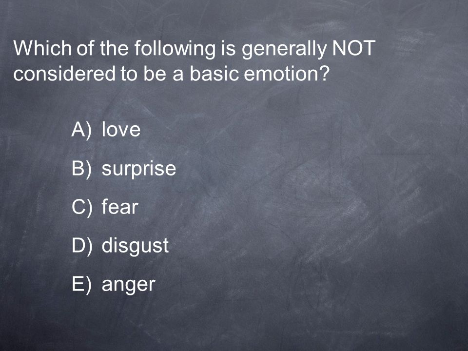 Which of the following is generally NOT considered to be a basic emotion