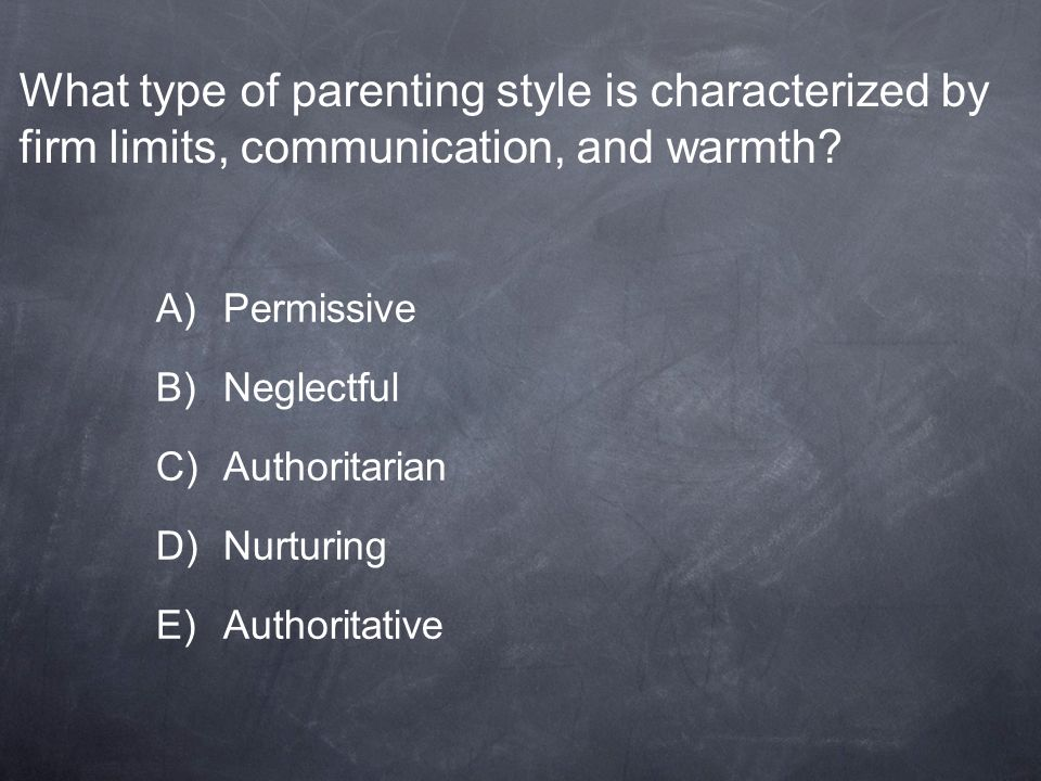 What type of parenting style is characterized by firm limits, communication, and warmth