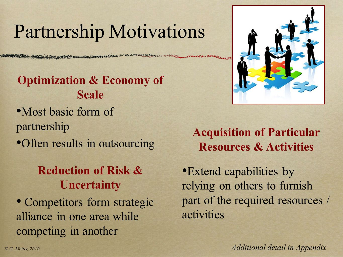 Partnership Motivations