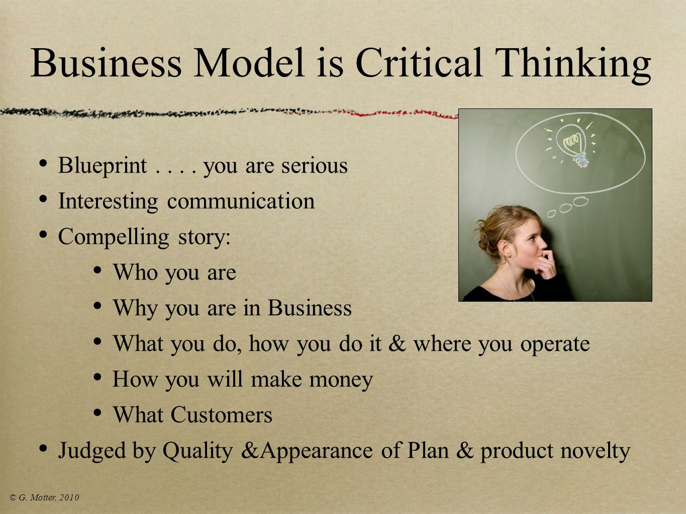 Business Model is Critical Thinking
