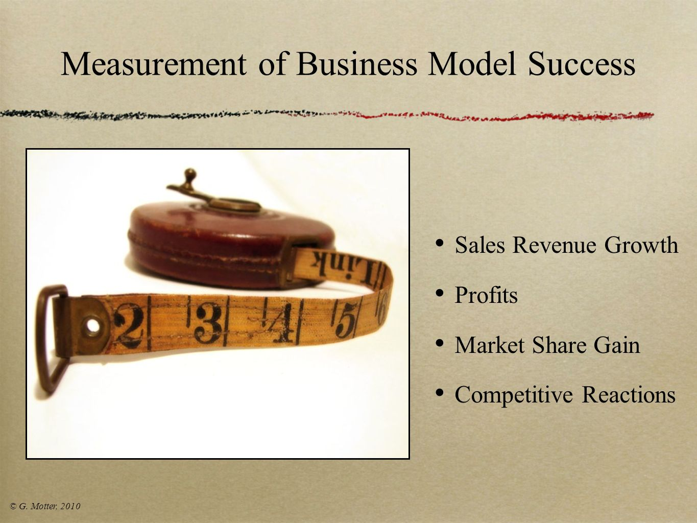 Measurement of Business Model Success