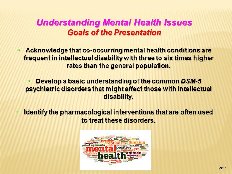 understanding mental ill health Mental health unit  feel they are unable to deal with a person who is mental ill, the lack of understanding and knowledge combined with the lack of caring.