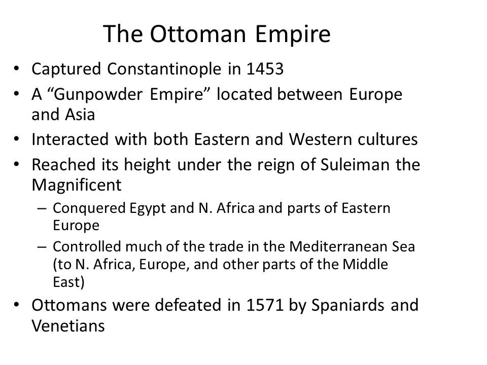 a comparison of the culture of the ottomans and the culture of the christians and venetians While fighting was almost always raging on the periphery of the ottoman empire, with the british in egypt and iraq and the russians to the north, it was the allied assault on gallipoli that most threatened the heart of the turkish realm.