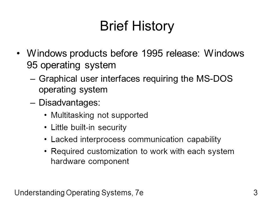 history of windows operating systems essay Free essay: operating systems where upgrade essay riordan windows operating system upgrade provide a brief history of three operating systems.