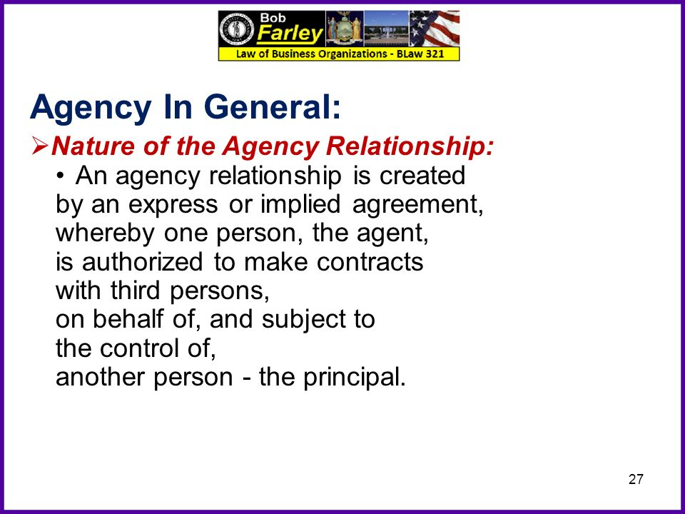 example of express agency relationship