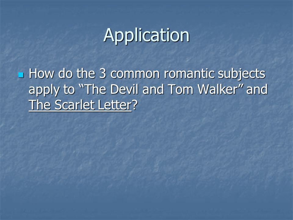 Romanticism in the scarlet letter