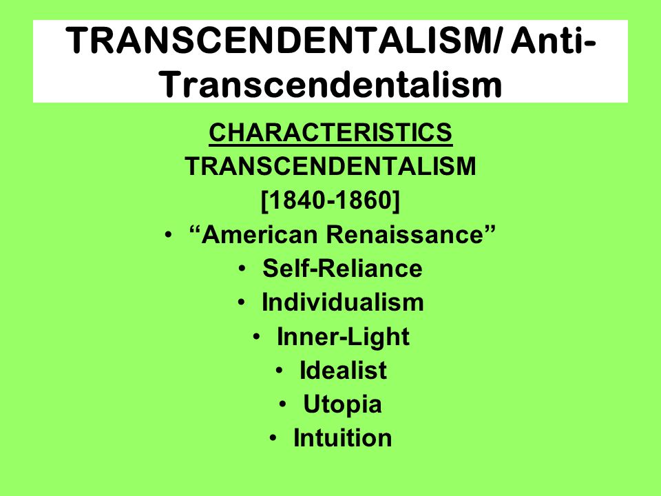 american romanticism utopian communities and transcendentalism Utopian societies and transcendentalism are interconnected utopian societies were communities that tried to capture what they believed america should be and create.