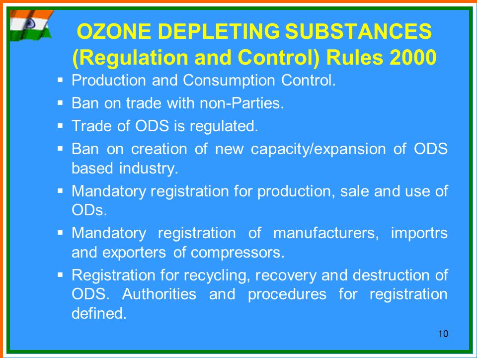OZONE DEPLETING SUBSTANCES (Regulation and Control) Rules 2000