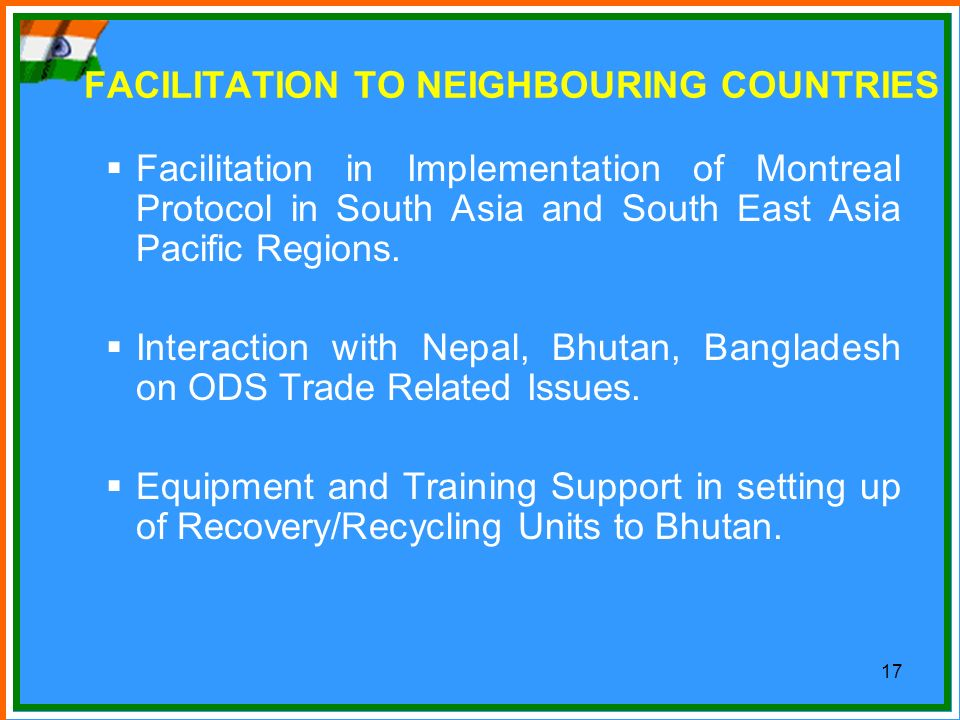 FACILITATION TO NEIGHBOURING COUNTRIES