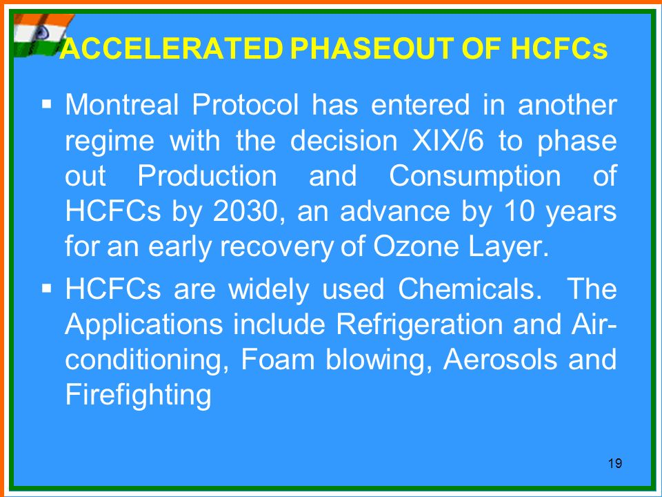 ACCELERATED PHASEOUT OF HCFCs