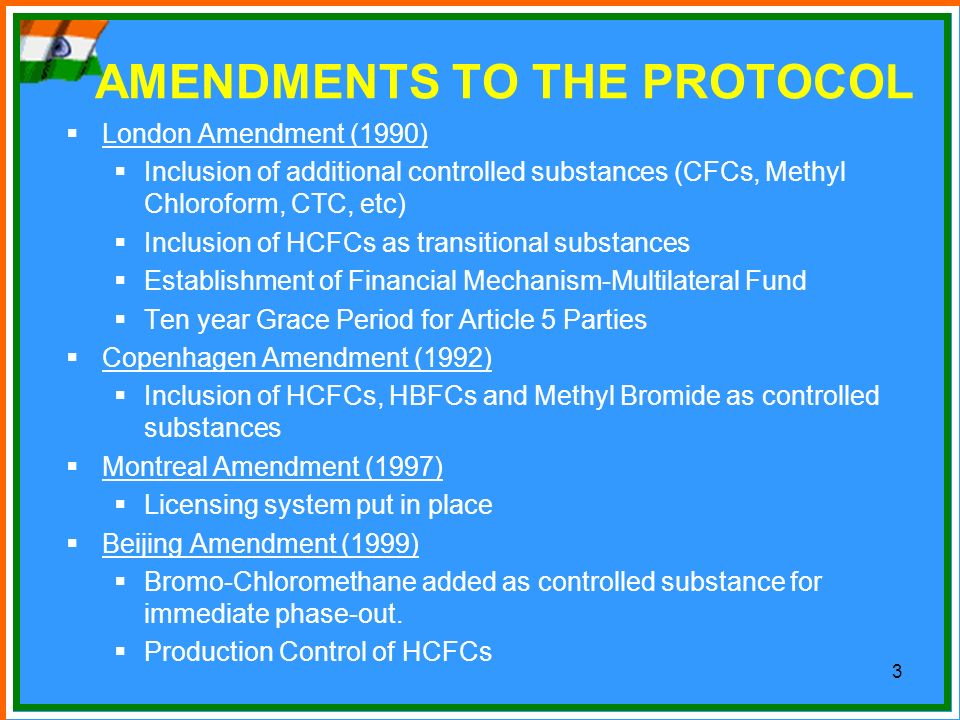 AMENDMENTS TO THE PROTOCOL