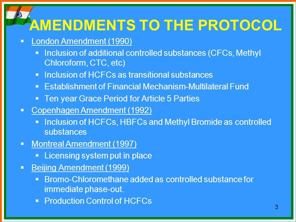 AMENDMENTS TO THE PROTOCOL