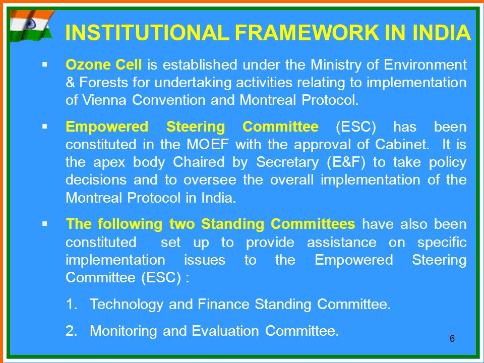 INSTITUTIONAL FRAMEWORK IN INDIA