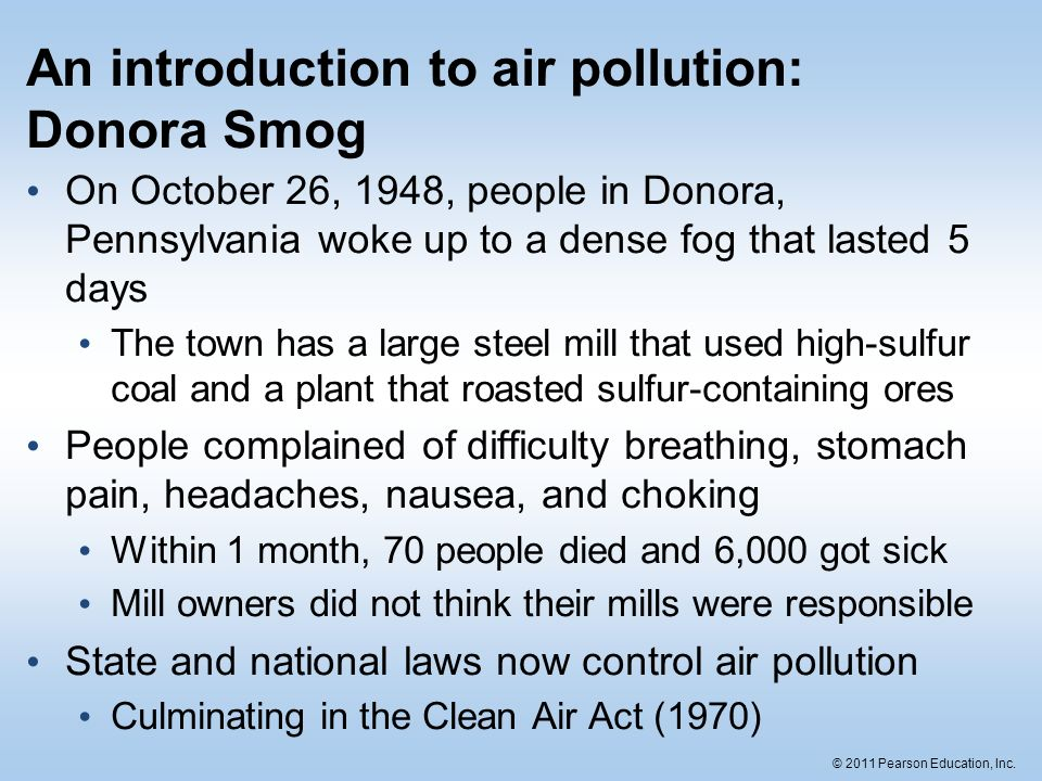 an introduction to air pollution Introduction air pollution has a substantial impact on health, nature and climate  issues currently in focus in denmark are population exposure to particle.