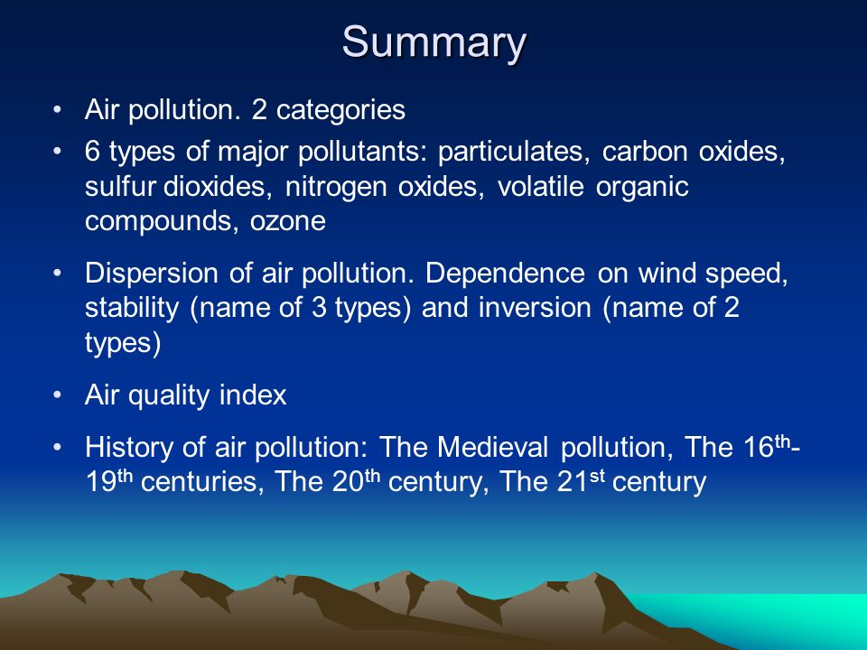 Air Pollution Ppt Video Online Download