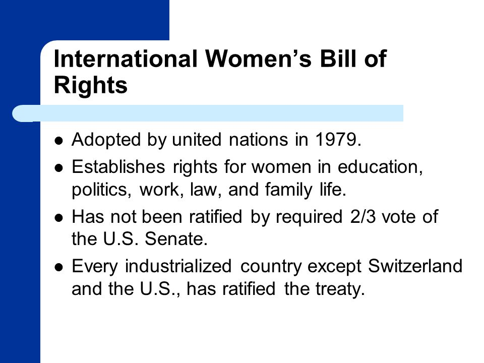 International Women's Bill of Rights