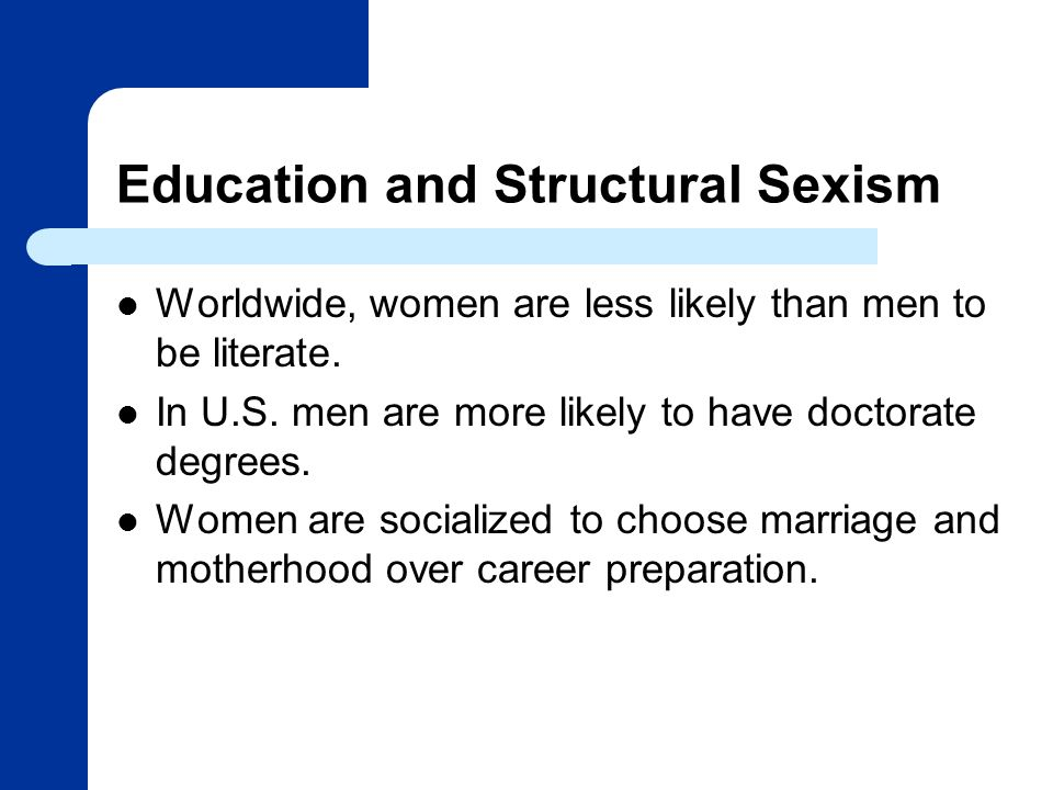 Education and Structural Sexism