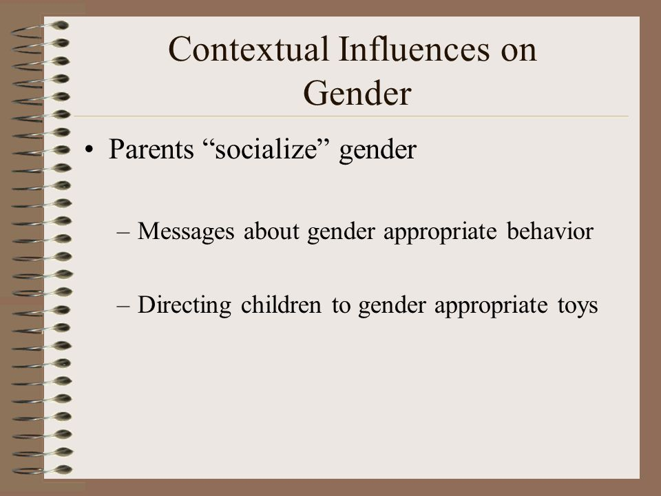 the influence of toys on gender How toys impact children's development updated on march 7, 2018 michaela more contact author  toys and stereotypes influence children's development  children may miss out on the.