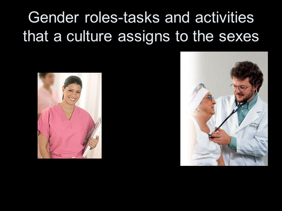 Gender roles-tasks and activities that a culture assigns to the sexes
