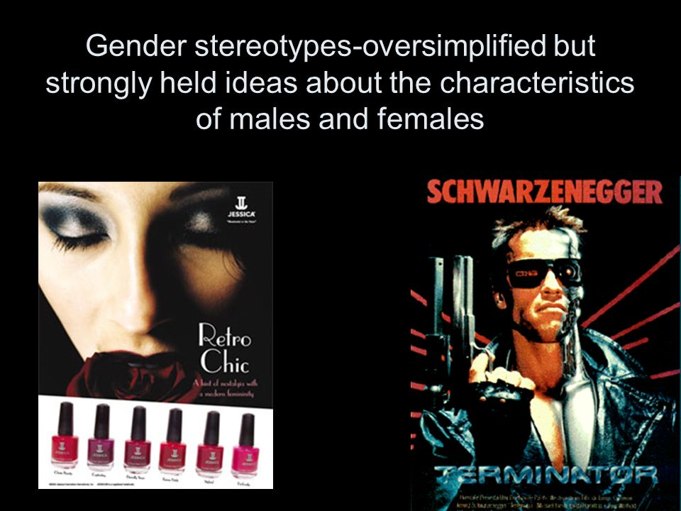 Gender stereotypes-oversimplified but strongly held ideas about the characteristics of males and females