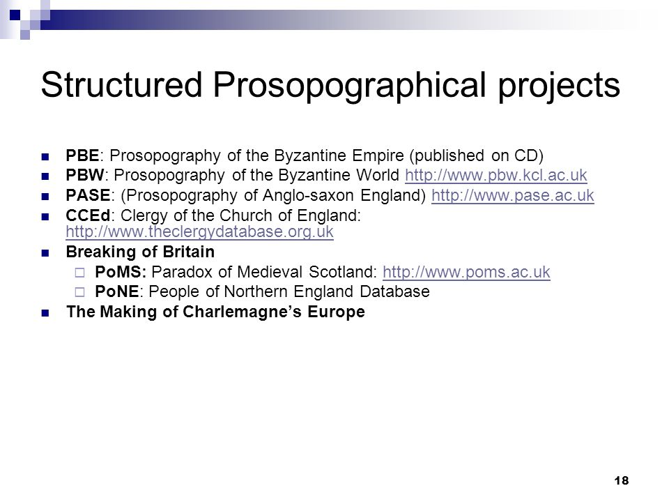 Structured Prosopographical projects