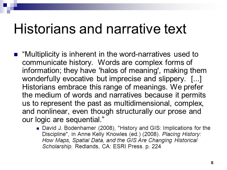 Historians and narrative text