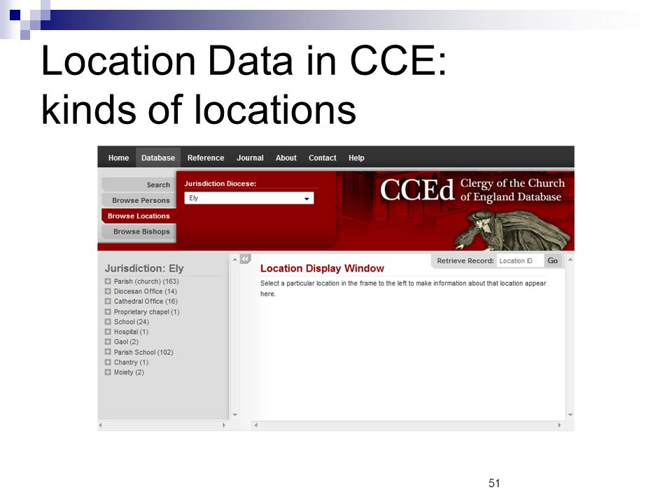 Location Data in CCE: kinds of locations