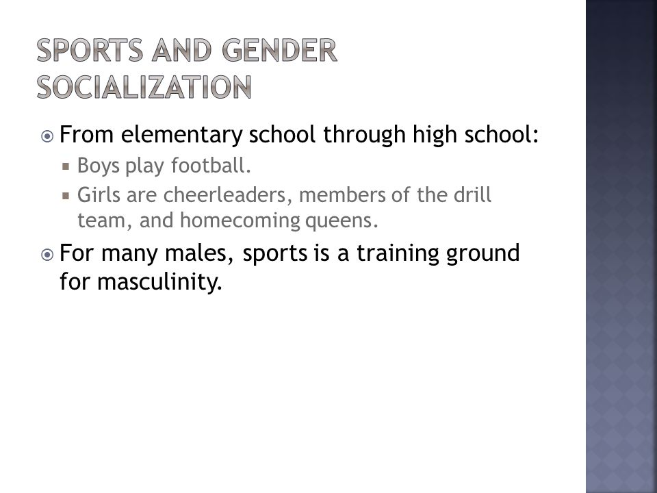 Sports and Gender Socialization