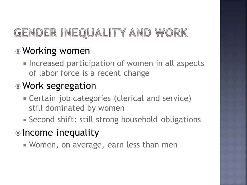 Gender Inequality and Work