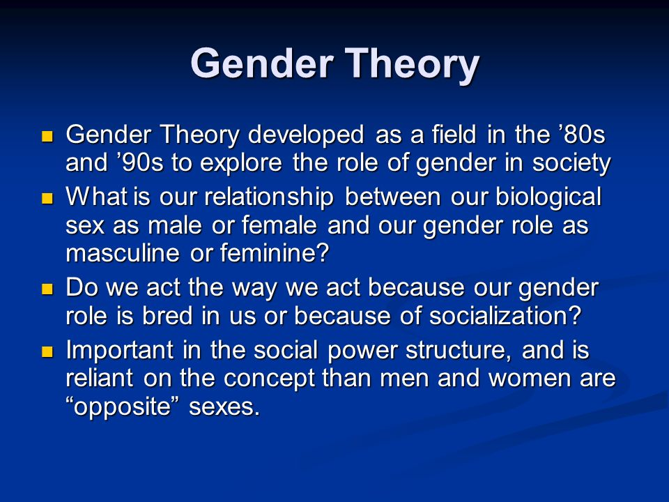 explain the relationship between gender and power