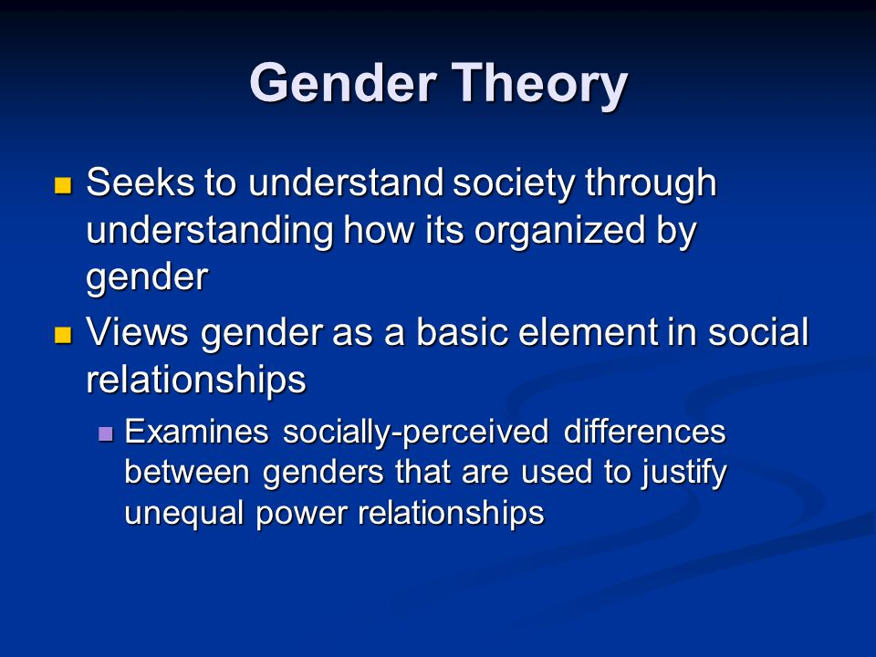 an analysis of the difference between sex and gender in society The sociology of gender is one of the how gender interacts with other social forces in society, and how gender relates the difference between sex and gender.