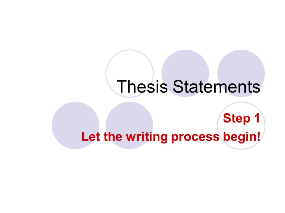 how to begin writing a thesis