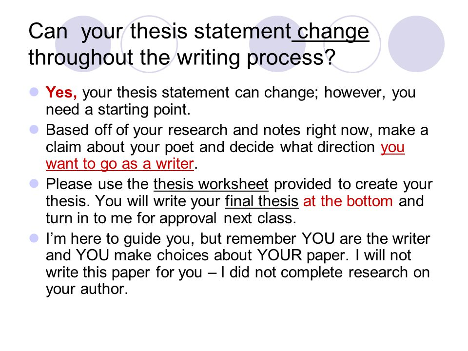 Research Paper Thesis Statements