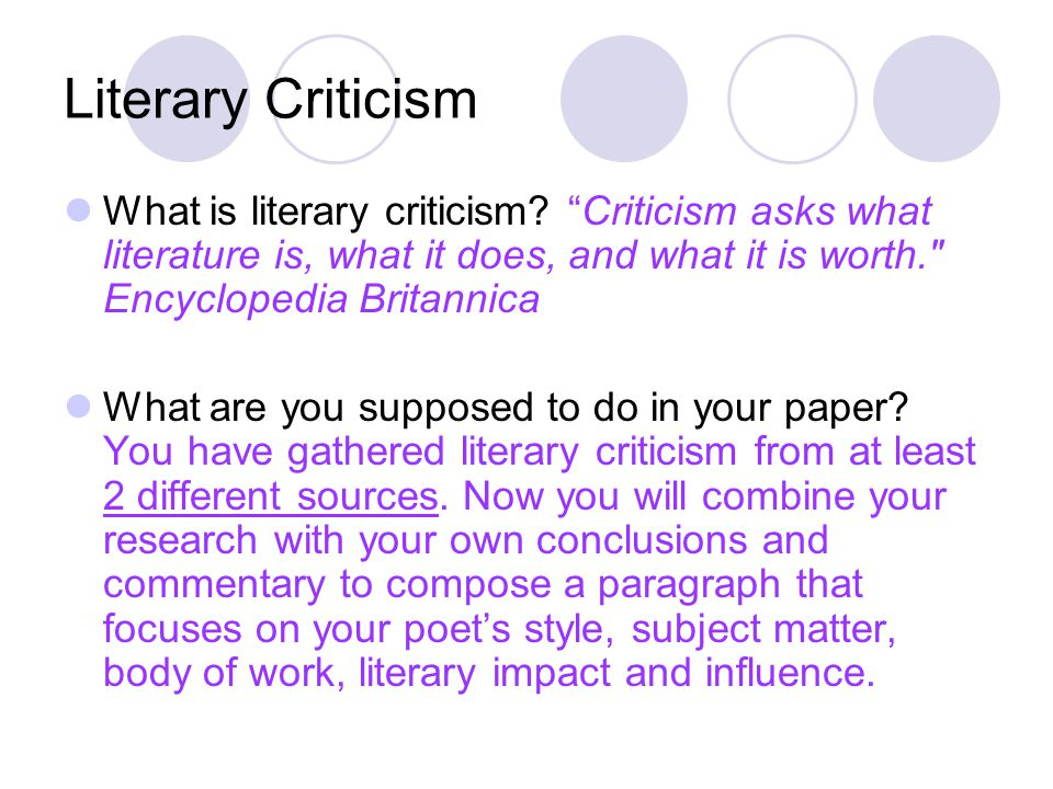criticism on the poem do not Critique writing for a literature class: how to analyze poems oct 29  if not  accustomed to reading and analyzing literature in general, poetry may seem a  little.