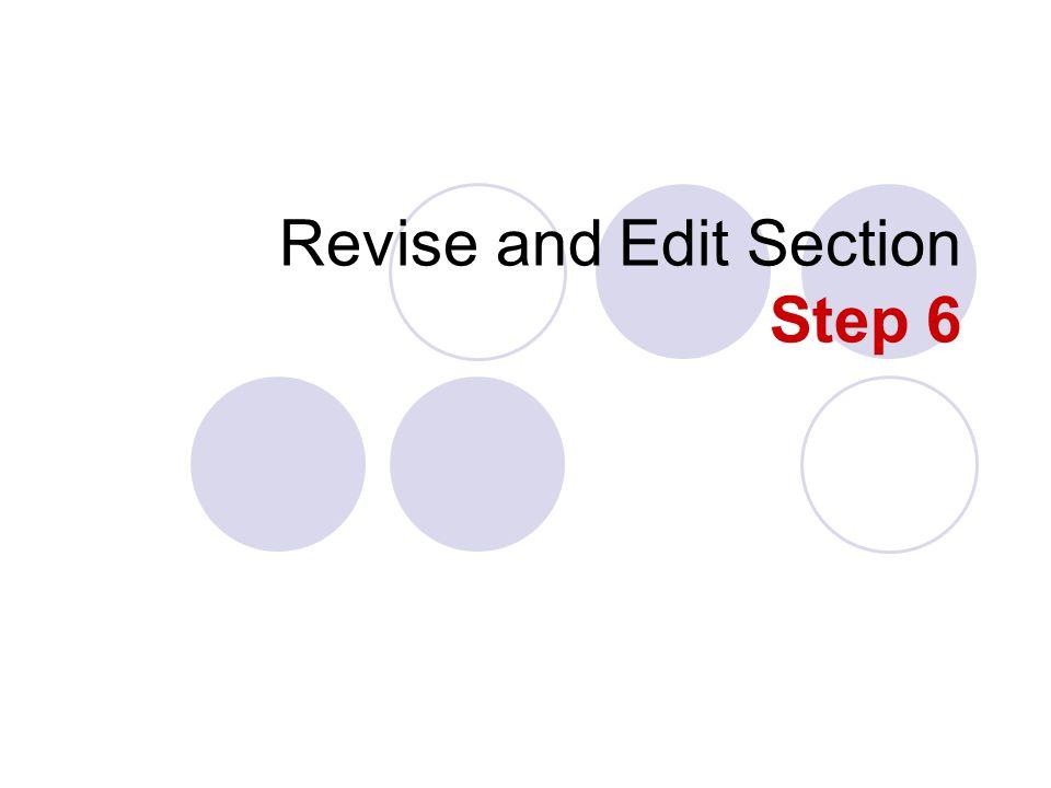 revise edit research paper