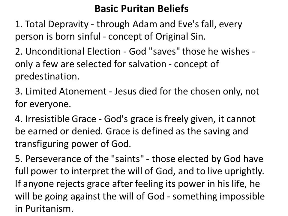 puritan beliefs essay Puritan beliefs and valuesa in writeworkcom retrieved 16:38, march 29, 2018, from.