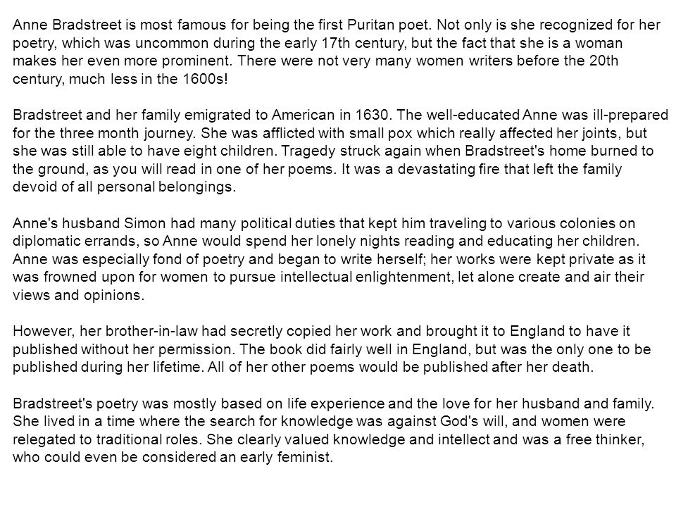 anne bradstreet essay romeo and juliet introduction essay romeo and juliet the prologue romeo and juliet essay romeo and · anne bradstreet