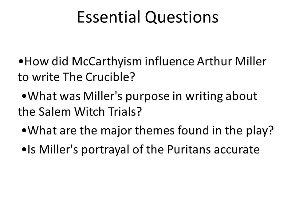 the hollywood portrayals of the salem witch trials During the time of the salem witch trials, those who were accused were  some  people that were accused were imprisoned the hollywood ten served one.