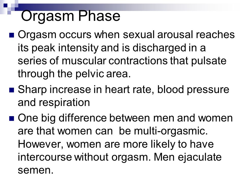 Sexual intercourse and high blood pressure