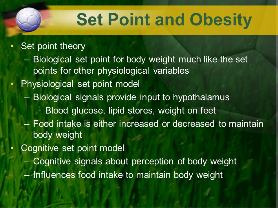 Is there evidence for a set point that regulates human body weight?