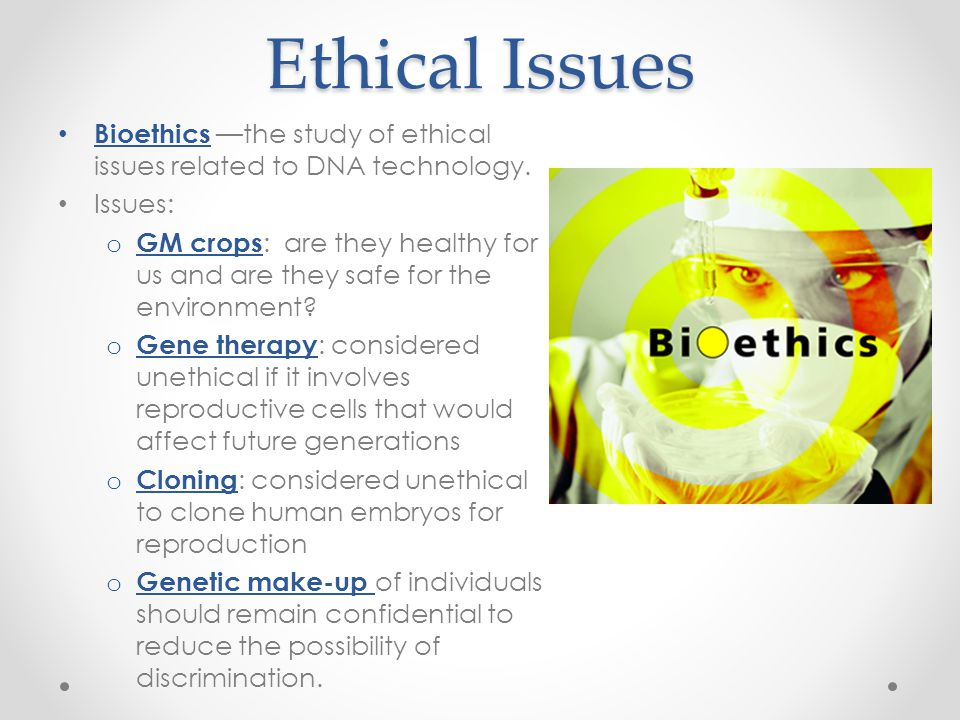 Ethical issues in human cloning