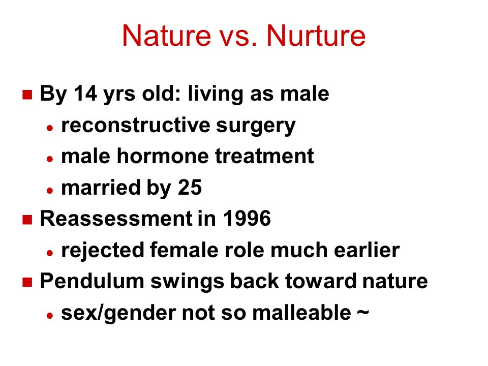 Sexuality And Nature Vs Nurture